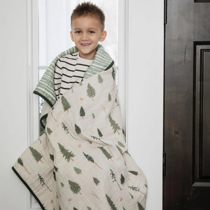 Pine Cotton Muslin 4-Layer Quilt