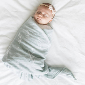 Olive Branch Cotton Muslin 2-pack Swaddles