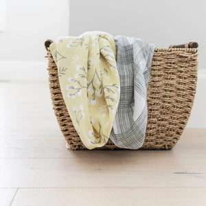 Yellow Buds Cotton Muslin 2-pack Swaddles