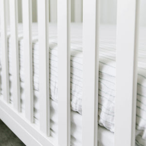 Breezy Stripe Cotton Muslin Crib Sheet