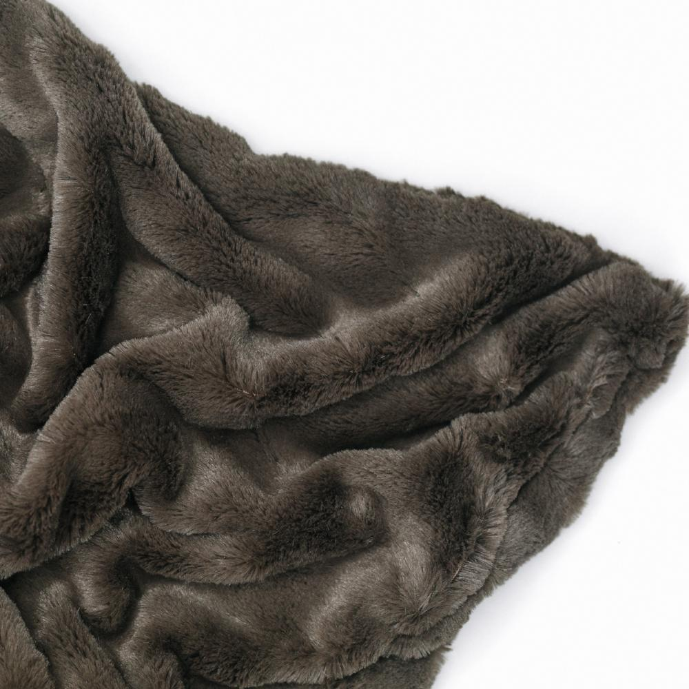 Umber Wave Throw Blanket