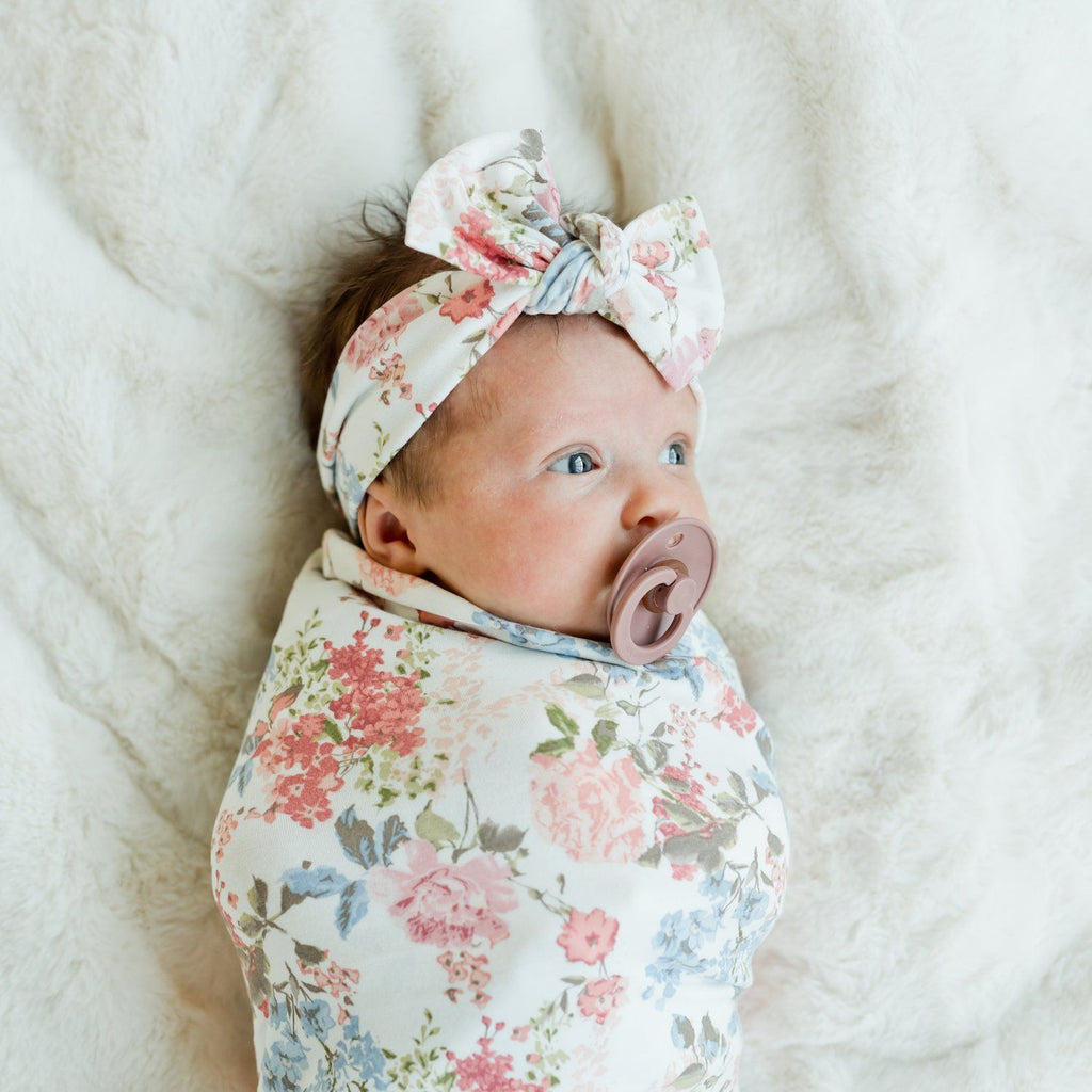 Vintage Floral Stretchy Swaddle