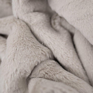 Fawn Grand Faux Fur Queen Blanket