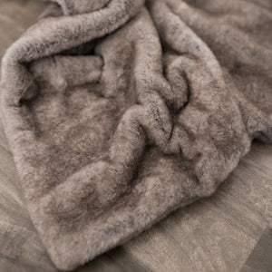 Timberwolf Grand Faux Fur Receiving Blanket