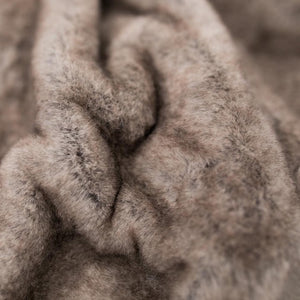 Timberwolf Faux Fur Grand Throw Blanket