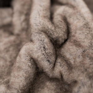 Timberwolf Grand Faux Fur Extra Large Throw Blanket
