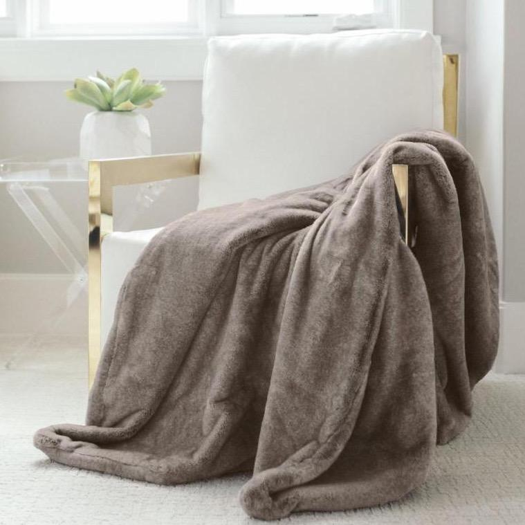 Faux fur blanket chair throws.