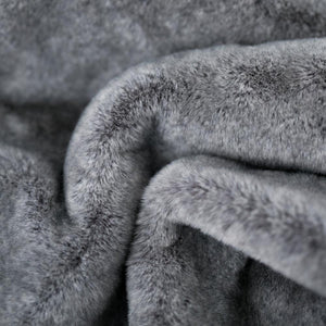 Chinchilla Grand Faux Fur Throw Blanket