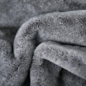 Chinchilla Grand Faux Fur Queen Blanket