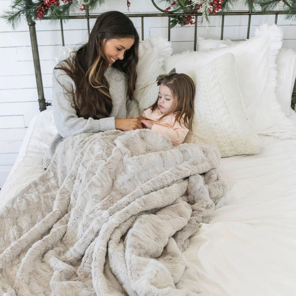 Feather Throw Blanket
