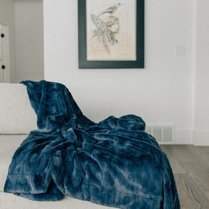 Indigo Throw Blanket
