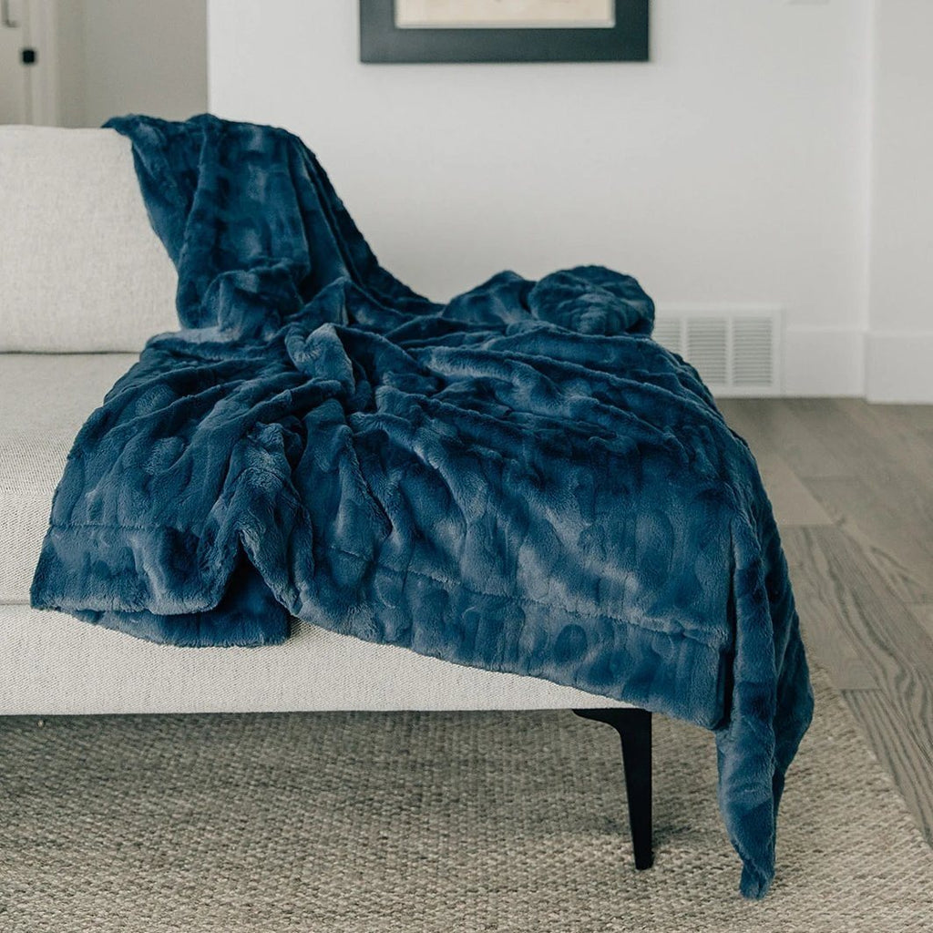 Indigo Extra Large Throw Blanket