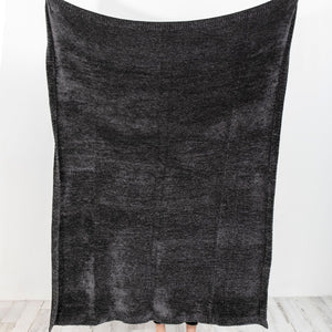 Coal Chenille Throw Blanket