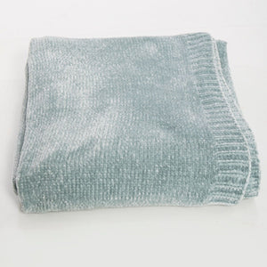 Frosted Sage Chenille Throw Blanket