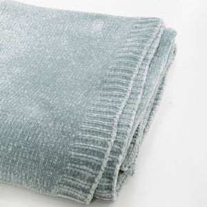 Frosted Sage Chenille Extra Large Throw Blanket