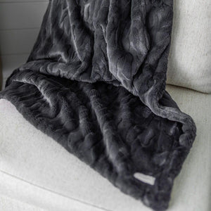 Charcoal Throw Blanket