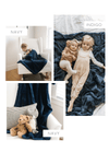 Navy Lush Toddler Blanket