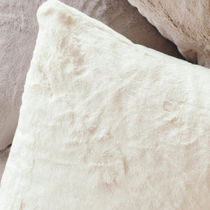 2-Pack Arctic Hare Grand Faux Fur Euro Pillow Covers