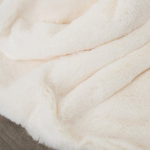 Arctic Hare Grand Faux Fur King Blanket