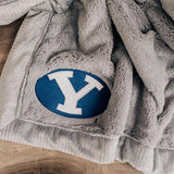 University Gray Lush Blanket, Brigham Young University, BYU