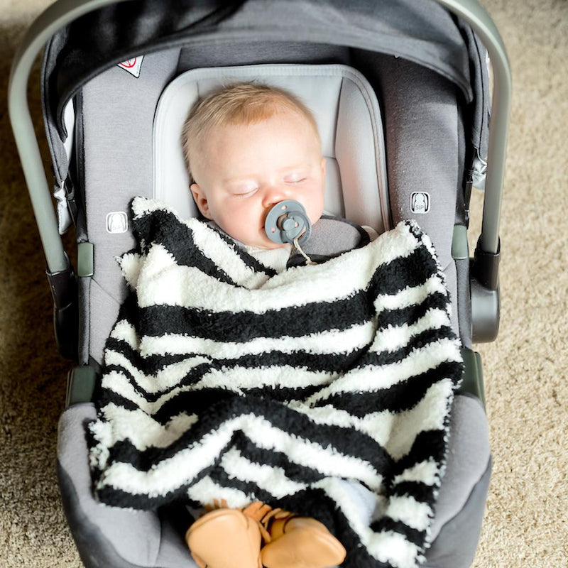 Black & White Double-Layer Bamboni Mini Blanket