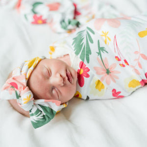 Modern Floral Stretchy Swaddle