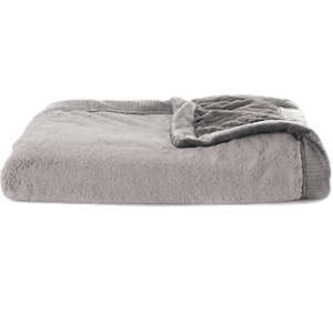 Gray Charcoal Lush Extra Large Blanket