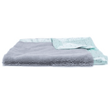 Gray Lush Mint Star Satin Back Blanket