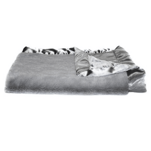 Gray Lush Satin Back Blanket