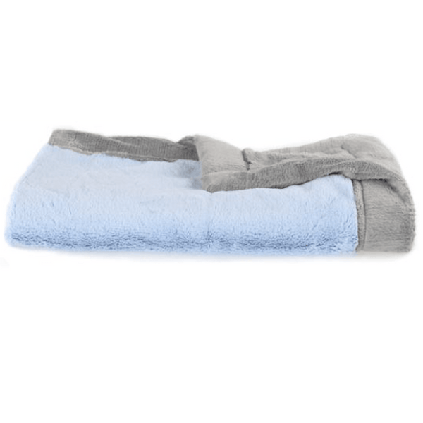 Light Blue Gray Lush Blanket