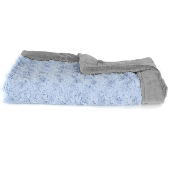 Light Blue Swirl Gray Lush Blanket