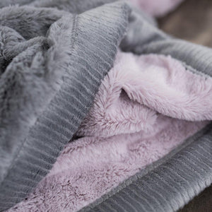 Lilac Haze Gray Lush Toddler to Teen Blanket