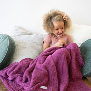 Deep Rose Bamboni Toddler Blanket