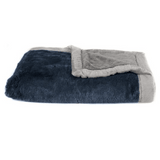 Navy Gray Lush Blanket