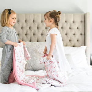 Sherbet Lush Sakura Bloom Satin Back Toddler to Teen Blanket