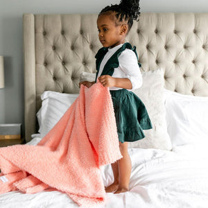 Peach Bamboni Toddler Blanket