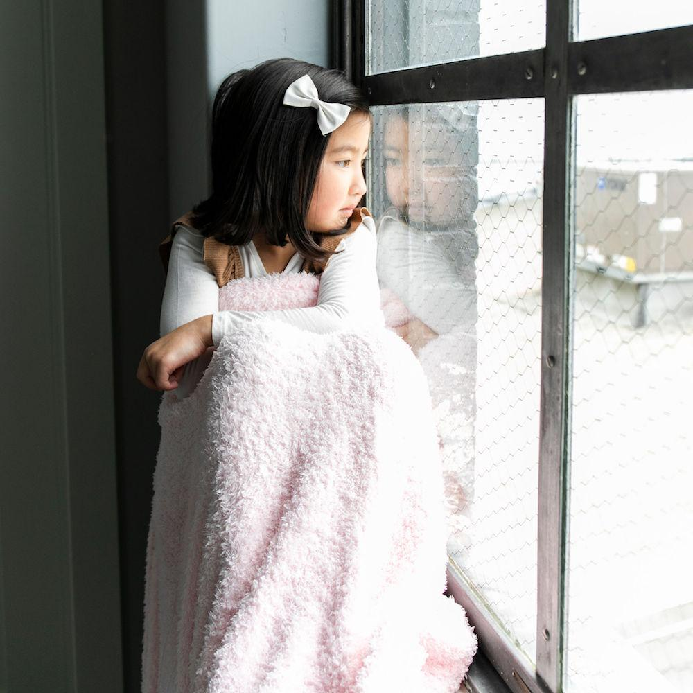 Light Pink Bamboni Toddler Blanket