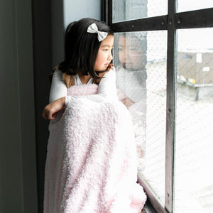 Light Pink Bamboni Toddler to Teen Blanket
