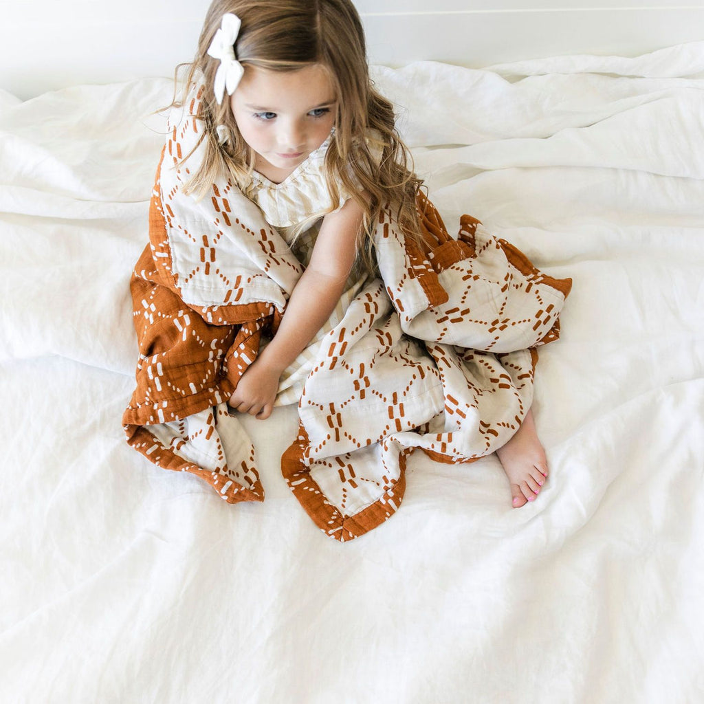 AJJ Juliet Copper 4-Layer Muslin Quilt