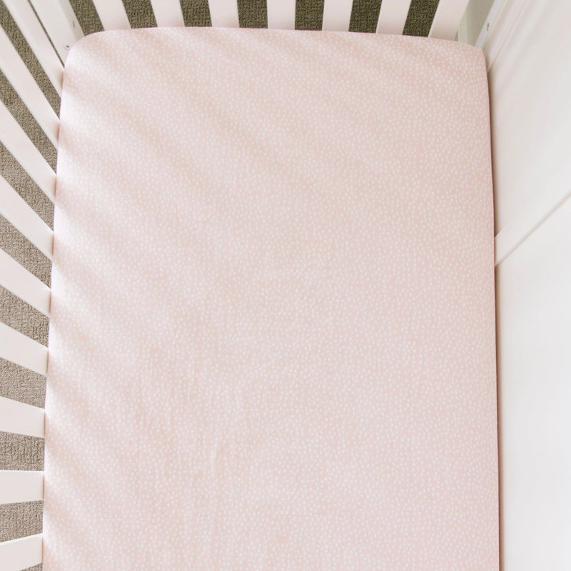 Fallen Petal Cotton Muslin Crib Sheet