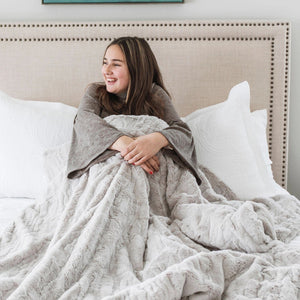 Feather Throw Weighted Blanket