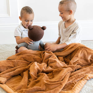 Camel Lush Toddler Blanket