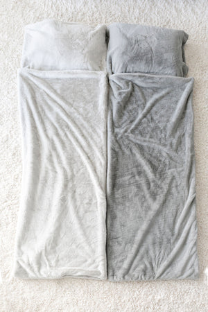 Gray Mink Grand Faux Fur Sleeping Bag