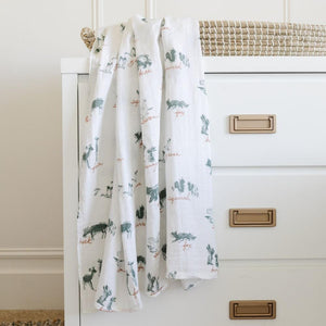 By Hope Lakewood Animals Bamboo Rayon Muslin Swaddle