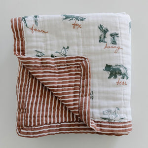 By Hope Lakewood Animals Bamboo Rayon Muslin 4-Layer Quilt