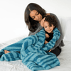 Blue Lagoon Double-Layer Bamboni Throw Blanket