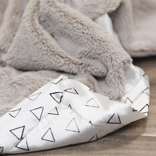 Feather Lush Triangles Satin Back Blanket