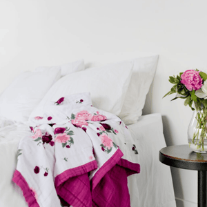Peony Paradise 4-Layer Muslin Quilt