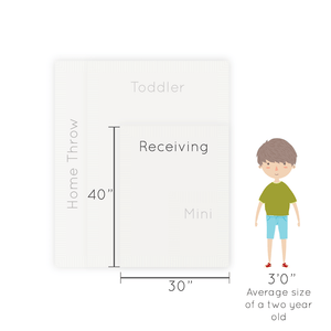 Taupe Bamboni Receiving Blanket