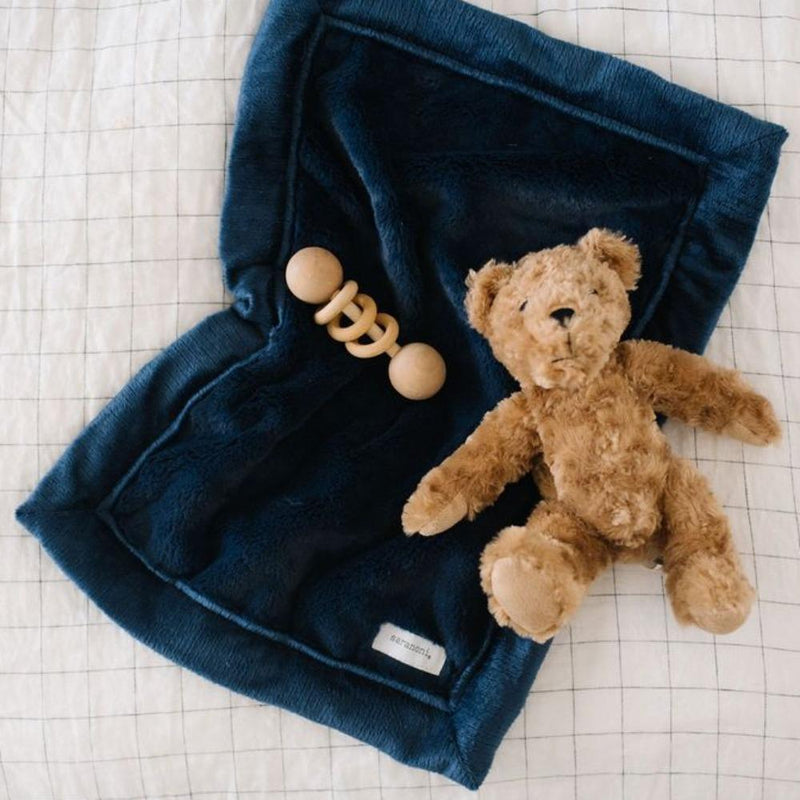 Navy Lush Mini Blanket